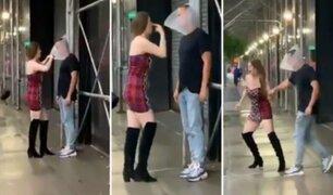 Celos enfermizos: joven le pone ''cono de la vergüenza'' a su novio para que no vea a otras mujeres
