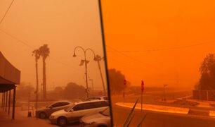 Extraño fenómeno: tormenta de polvo pinta de naranja una ciudad de Australia