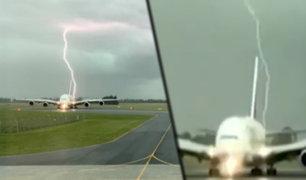 Nueva Zelanda: avión escapó por escasos metros del impacto de un rayo
