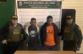 Capturan a delincuentes que robaron combi tras intensa persecución policial