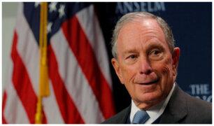 Michael Bloomberg se postula como precandidato presidencial de EEUU