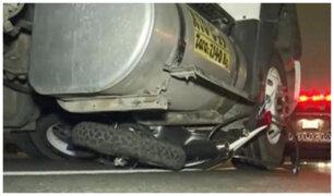 SJM: motociclista muere atropellado por camión en la Panamericana Sur