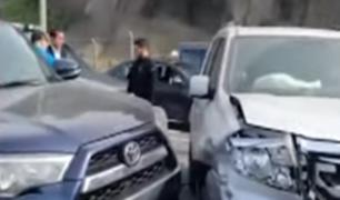 Costa Verde: camioneta causó choque múltiple a la altura de La Pampilla