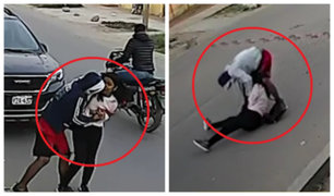 Chincha: arrastran a mujer para robarle su celular