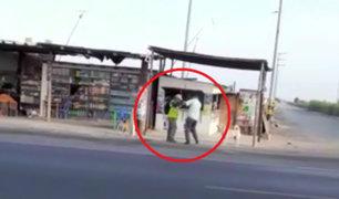 Cañete: bus se detiene para que pasajeros bajen a pelearse