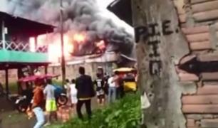Iquitos: incendio consumió 11 viviendas en zona baja de Belén