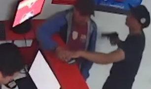 Ate: rápido accionar de la PNP permitió captura de ladrones que asaltaron casa de apuestas