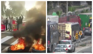 Panamericana Sur: paro de colectiveros provocó gran congestionamiento vehicular