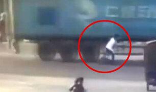 Ciclista salvó de morir arrollado por camión en China
