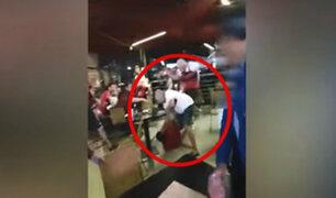 Miraflores fue escenario de peleas durante la estadía de hinchas del Flamengo