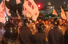 Marcha contra liberación de Keiko Fujimori culminó con enfrentamientos