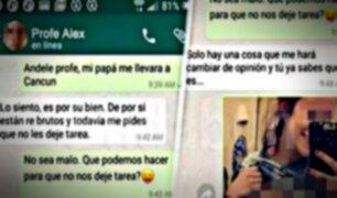Profesor acosaba a sus alumnos por WhatsApp y les proponía tener relaciones sexuales
