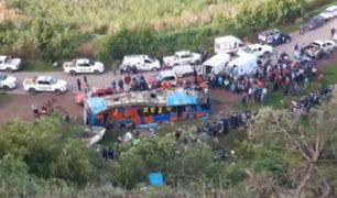 Cusco: exceso de velocidad habría provocado accidente de bus que dejó más de 30 heridos