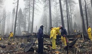 EEUU: caída de lluvias ayudaron a sofocar incendios en California