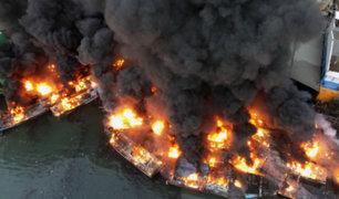 Indonesia: explosión de embarcación dejó siete personas gravemente heridas