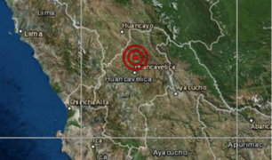 Sismo de magnitud 3.7 se registró esta tarde en Huancavelica
