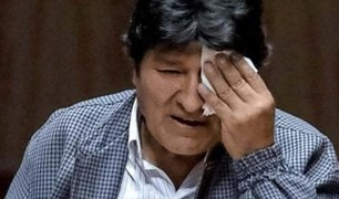 Abuchean a Evo Morales durante conferencia en universidad mexicana