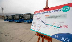 "Servicio ""Súper expreso"" del Metropolitano unirá Comas con avenida España"