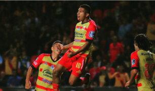 Edison Flores anotó dos golazos en el empate del Monarcas Morelia