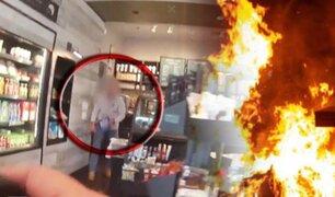 Hombre se prende en llamas dentro de reconocida cafetería de EEUU