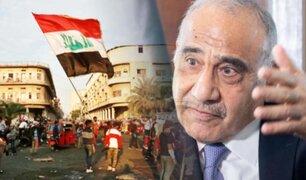 Primer ministro de Irak anuncia su dimisión tras dos meses de protestas