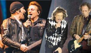 Los Rolling Stones y U2 son las bandas que más recaudaron en vivo en la última década