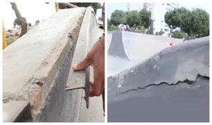 Miraflores: Prometieron restaurar Skatepark pero aún continúa en estado de abandono y peligro