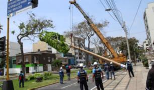 Municipalidad de Miraflores retiró antena de telefonía sin autorización