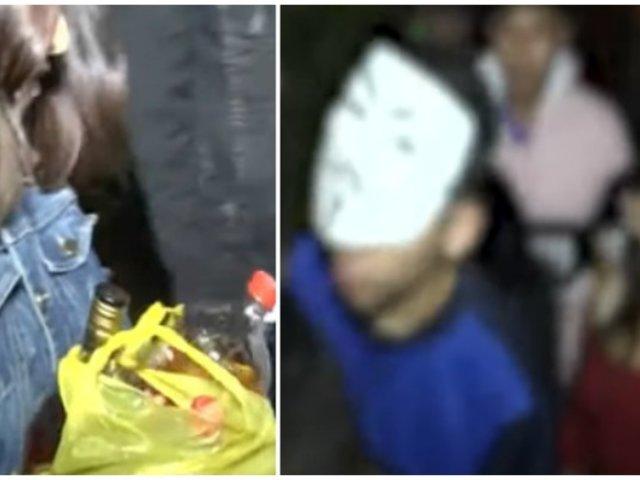 Menores de edad fueron intervenidos bebiendo licor en 'fiesta semáforo'