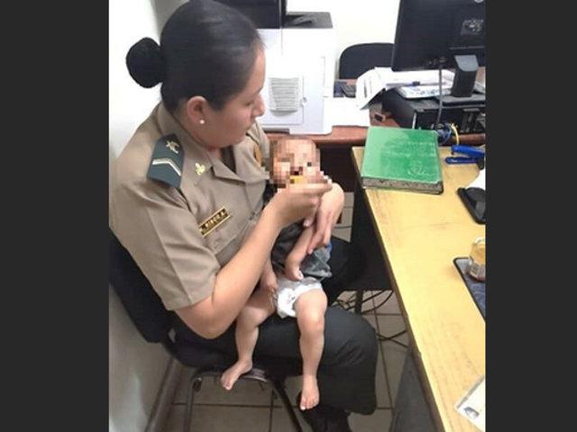 Amazonas: policía rescata a bebé de diez meses abandonado en asentamiento humano