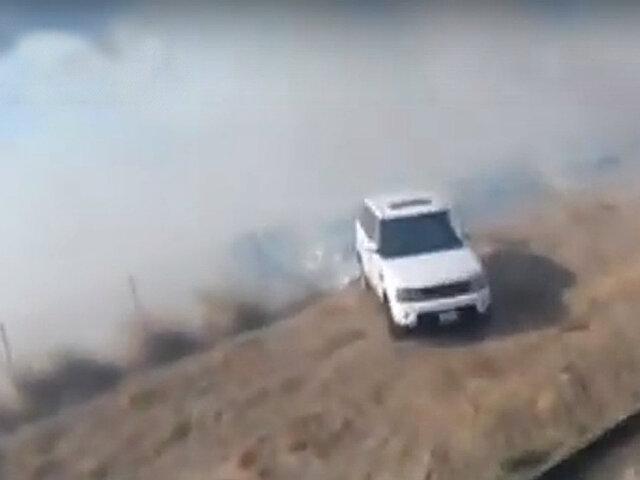 EEUU: así escapan del imparable incendio en California