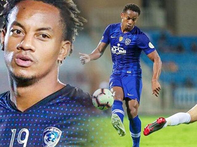 André Carrillo sufrió lesión en encuentro entre Al Fateh FC vs Al Hilal