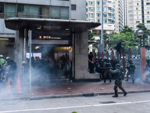 Hong Kong: 5 heridos dejó pelea con cuchillo durante jornada de protestas