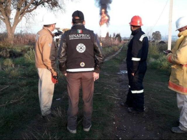 México: dos heridos deja explosión de ducto tras fuga de gas