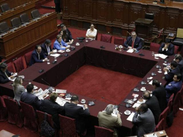 Congreso: Comisión Permanente revisa decretos de urgencia del Ejecutivo
