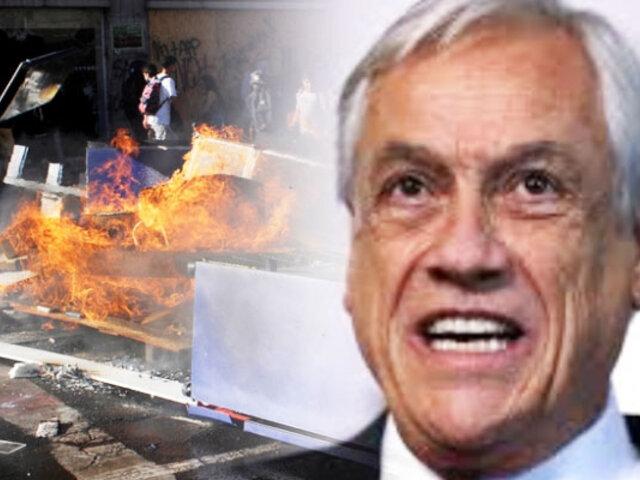 Chile: Piñera anunció medidas para penalizar las manifestaciones violentas y los saqueos