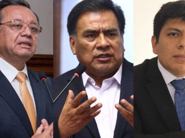 Formalizan denuncia constitucional contra Velásquez Quesquén, Palma y excontralor Alarcón