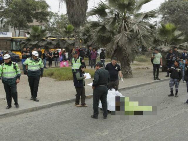 Comas: mujer muere atropellada por bus alimentador del Metropolitano
