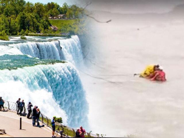 Canadá: rescatan un hombre a punto de caer en las Cataratas del Niágara