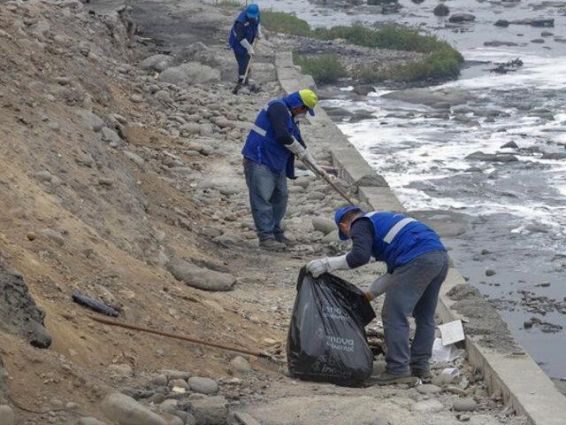 Río Rímac: recogen cerca de tres toneladas de basura en la ladera