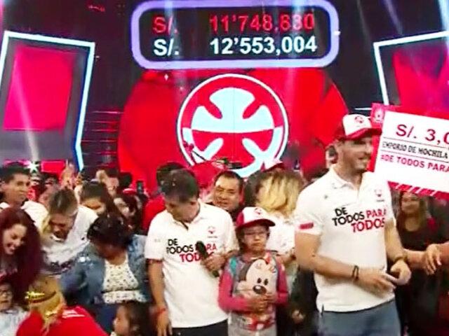 #DeTodosParaTodos: Teletón 2019 superó la meta ¡Gracias Perú!