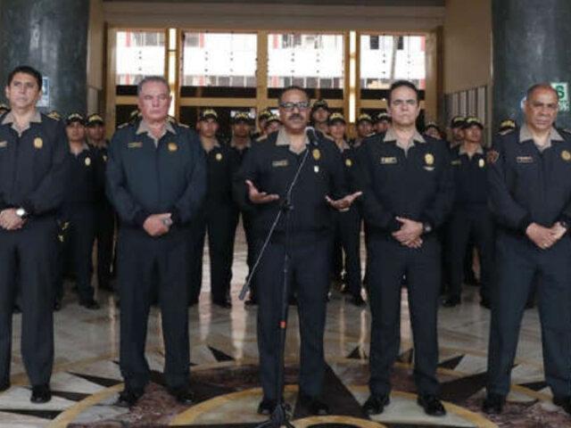PNP anuncia cambios en jefaturas de Lima y Callao para luchar contra inseguridad