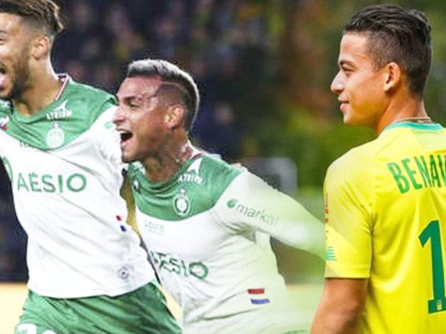 Liga 1 de Francia: con gol de Trauco Saint Étienne ganó 3-2 al Nantes de Benavente