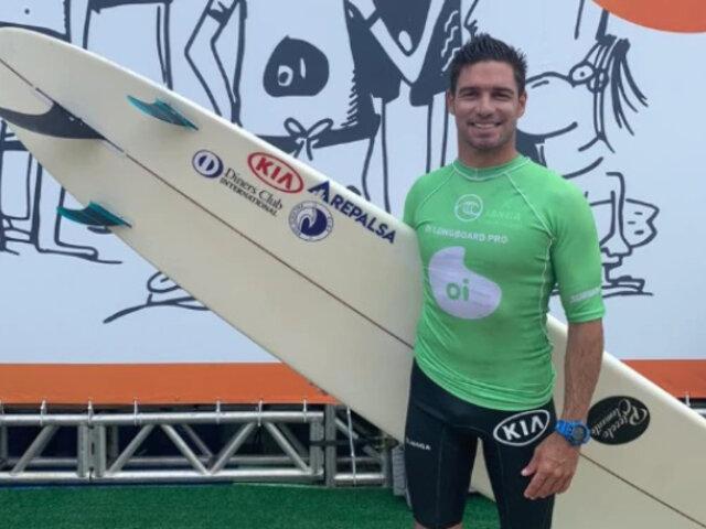 Piccolo Clemente se coronó tetracampeón sudamericano de longboard
