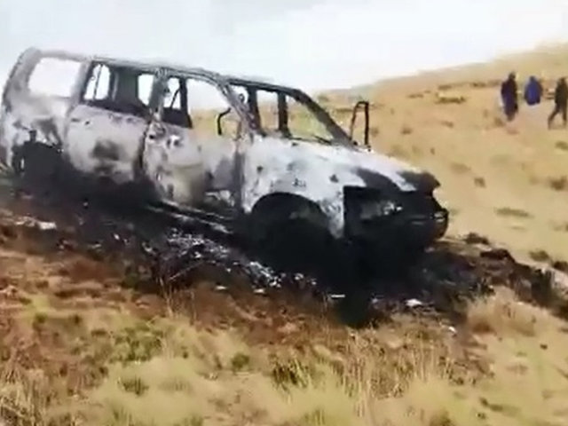 Jauja: cinco personas fallecieron calcinadas dentro de vehículo