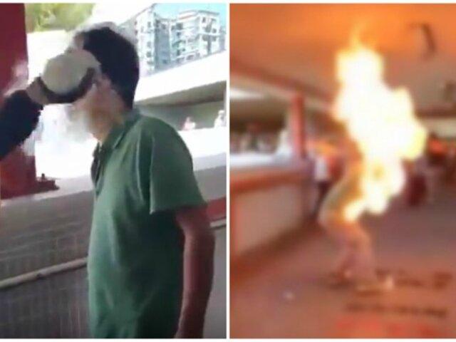 Manifestante es quemado vivo tras discusión política en Hong Kong