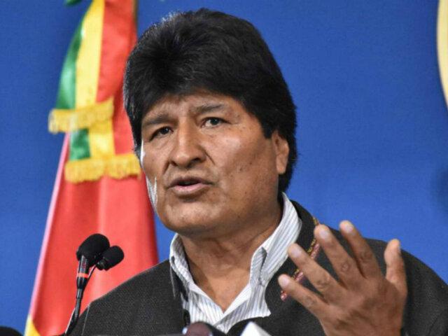 """Morales califica """"autoproclamación"""" de Áñez como consumación del """"golpe"""""""