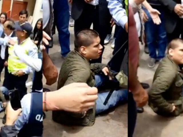 San Marcos: sujeto intentó acuchillar a estudiante en campus universitario