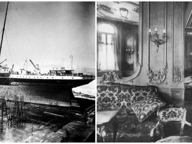 Titanic: conmovedoras fotos nunca antes vistas de la embarcación