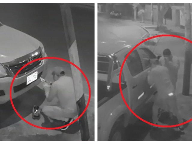 Casma: roban autopartes de vehículo en solo un minuto